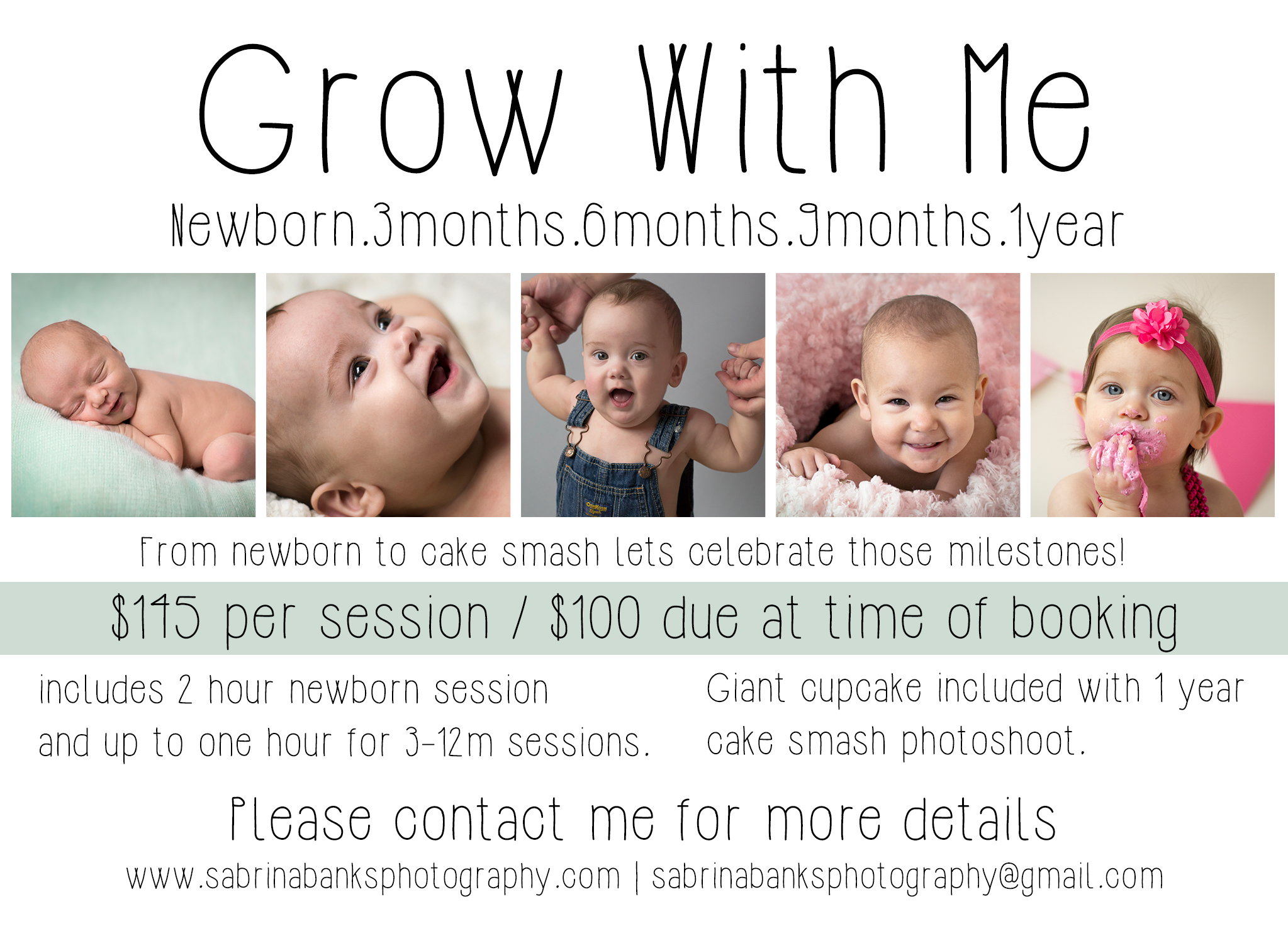 Grow With Me Year Long Photography Package